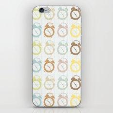 clocks pattern iPhone & iPod Skin