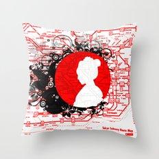 Modern Japan 2 Throw Pillow