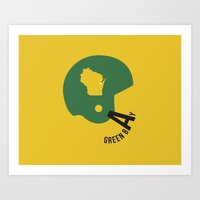 packers Art Prints featuring Green Bay Packers by Deniz C.