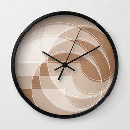 Spacial Orbiting Spiral in Cinnamon Wall Clock
