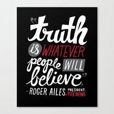 Fox News and Truth Canvas Print