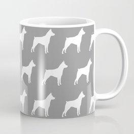 White Miniature Pinscher Silhouette Coffee Mug