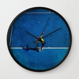Novak Djokovic Tennis Serving Wall Clock