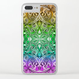 Drawing Floral Zentangle G206 Clear iPhone Case