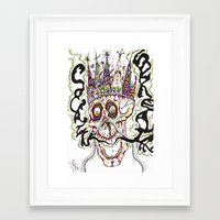 cocaine Framed Art Prints featuring Cocaine Breath by Joseph Butler