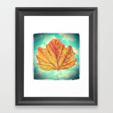 Autumn Leaf Framed Art Print