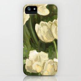 White Tulips II iPhone Case
