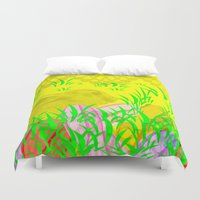 easter Duvet Covers featuring Easter Bunny  by Tanja Riedel