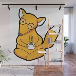 Little Fox Tea Time Wall Mural