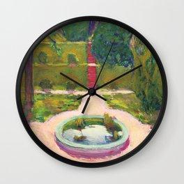"""Koloman (Kolo) Moser """"Garden with fountain"""" Wall Clock"""