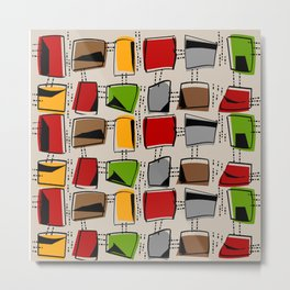 Mid-Century Abstract Rectangles Metal Print