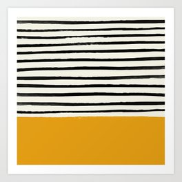 Fall Pumpkin x Stripes Art Print