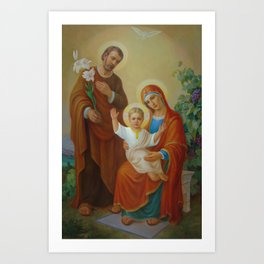 Holy Family With The Vine Tree Art Print