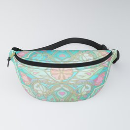 Floral Moroccan in Spring Pastels - Aqua, Pink, Mint & Peach Fanny Pack