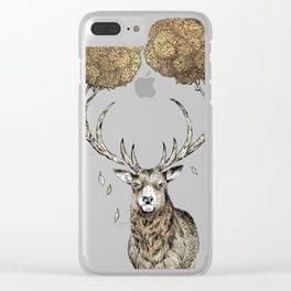 Asteroid Brain Diagnostics // (metaphysical deer) Clear iPhone Case