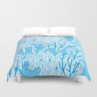 medicine Duvet Covers featuring Modern Medicine by Nat Chartres