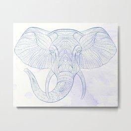 Ethnic Elephant Metal Print