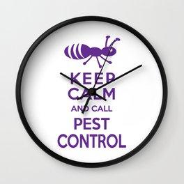 Funny Exterminator Wall Clock
