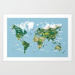 Planisphere Art Print