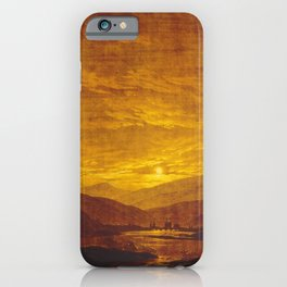 Caspar David Friedrich / Mountainous River Landscape iPhone Case
