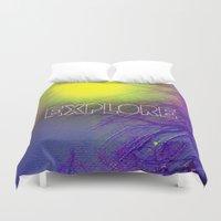 explore Duvet Covers featuring Explore by PixelFarmer