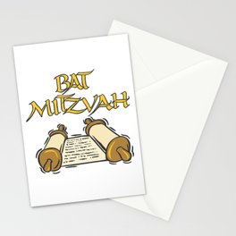 Bat Mitzvah with Scroll  Stationery Cards