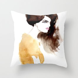 Looking forward Throw Pillow