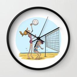 Beach volleyball girls team Wall Clock