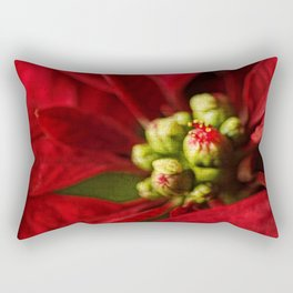 Christmas Poinsettia Rectangular Pillow