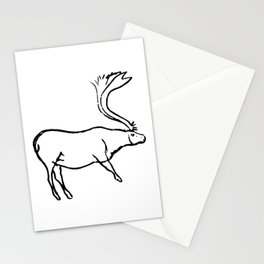 French Paleolithic deer Stationery Cards