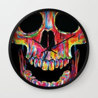 terminator Wall Clocks featuring Chromatic Skull by John Filipe