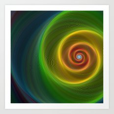 Space dream spiral Art Print