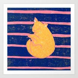 Mikan Cat #2 Art Print