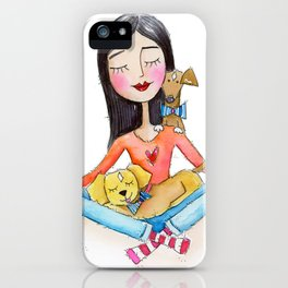 Dogs Are Meditation Buddies iPhone Case