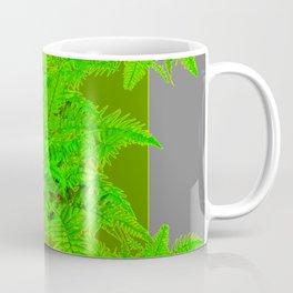 REFRESHING  NATURAL GREEN FERNS  GREY ART Coffee Mug