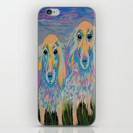 Mugi and Tatami - Contemporary Dogs iPhone Skin
