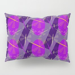 abstract seamless floral pattern exotic shapes Pillow Sham