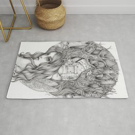 JennyMannoArt GRAPHITE DRAWING/FAIRIE Rug