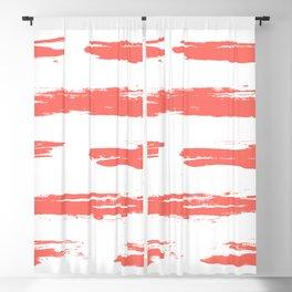 Living Coral Horizontal Dash Blackout Curtain