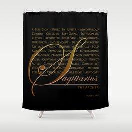 Sign Language for Sagittarius Shower Curtain