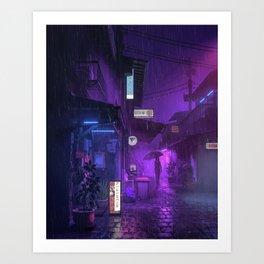 PUURPLE RAIN (everyday 03.06.19) Art Print