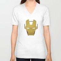 ironman V-neck T-shirts featuring Ironman by Liquidsugar