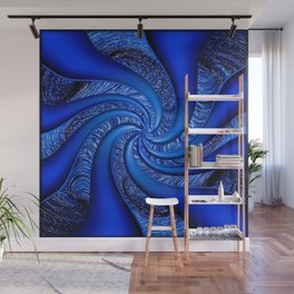 Twisted in Blue... Wall Mural