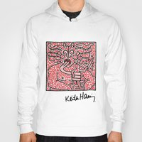 keith haring Hoodies featuring Keith Haring by cvrcak