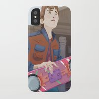 mcfly iPhone & iPod Cases featuring Marty McFly by Lesley Vamos