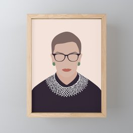 Ruth Bader Ginsburg Art Framed Mini Art Print