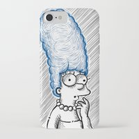 simpson iPhone & iPod Cases featuring Marge Simpson by Axpirine