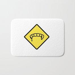 Caution: Vamps Bath Mat