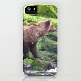 Bear by the River iPhone Case