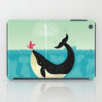 bird iPad Cases featuring The Bird and The Whale by Oliver Lake
